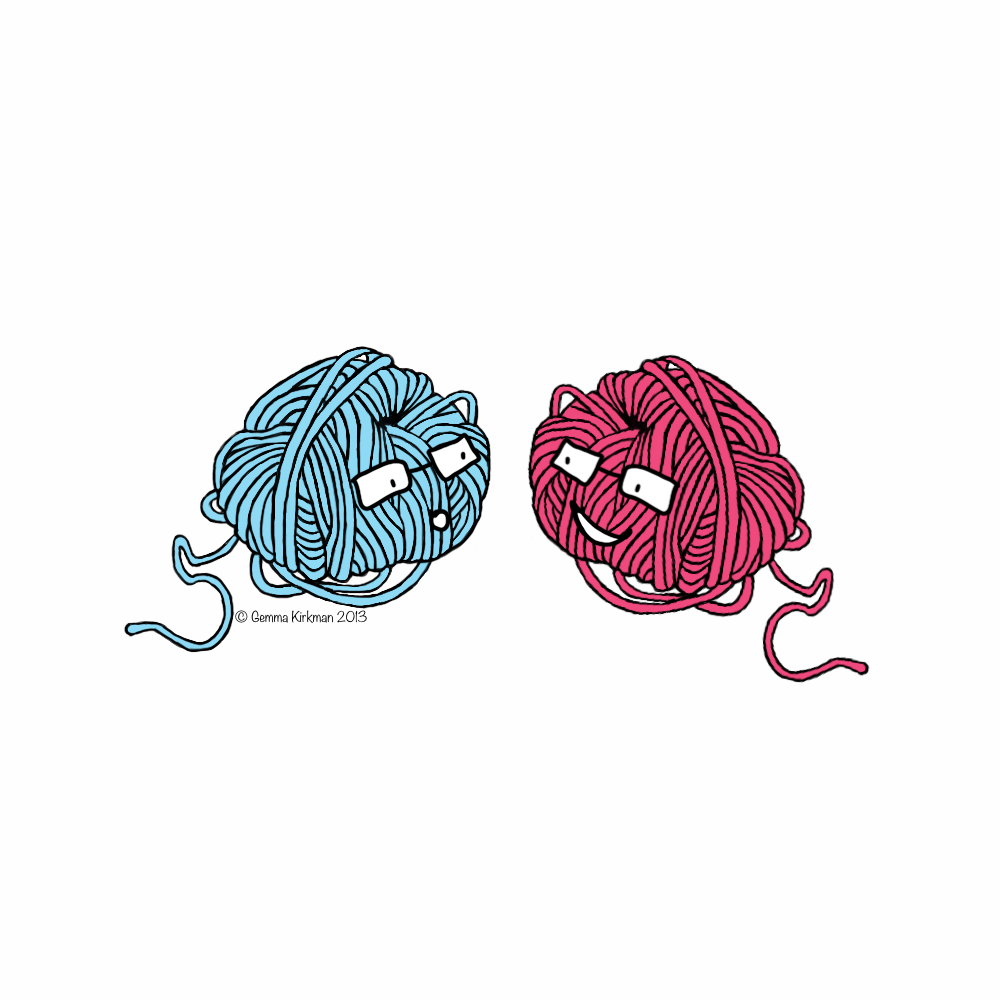 two balls of wool chatting